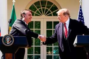 Trump diz que vai trabalhar para ter um acordo de livre comércio com o Brasil