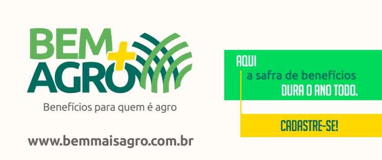 Produtor terá descontos de até 70% em produtos e serviços no Bem+Agro