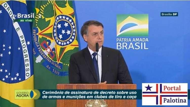 Bolsonaro libera posse de arma em todo o perímetro da fazenda